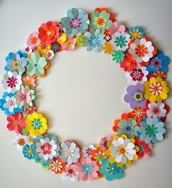 Веночки из бумажных цветов