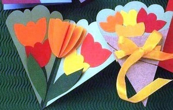 """Объёмные аппликации """"цветы"""""""