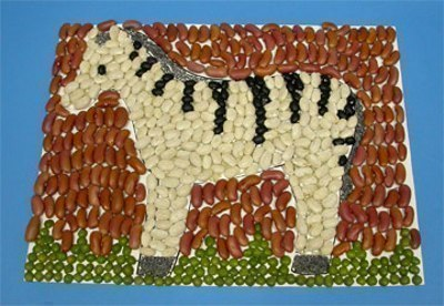 Мозаика из круп и семян