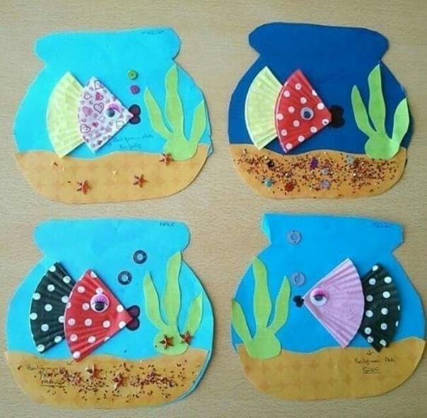 Аквариум с рыбками. мастерим вместе с детьми