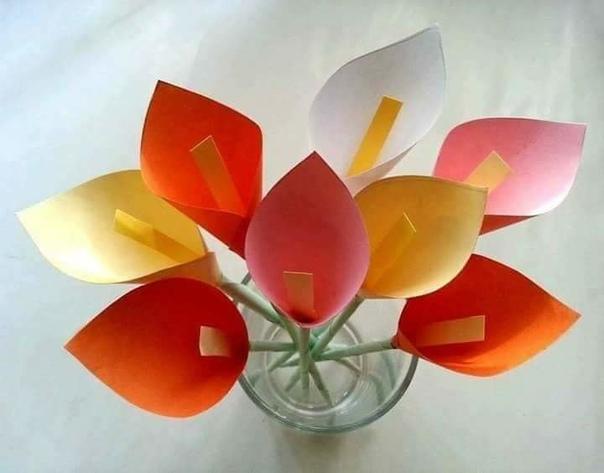 Оригинально и просто. цветы из бумаги. правда, супер?!!!