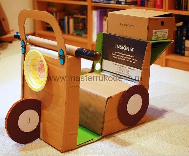 Рукоделие для детей: игрушки из картонных коробок