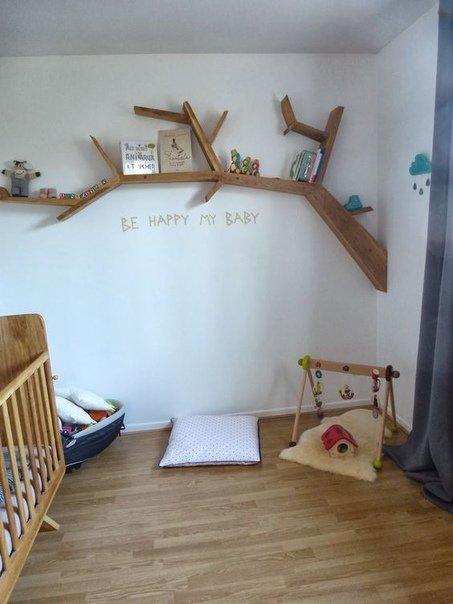 Оригинальные полочки в детскую комнату