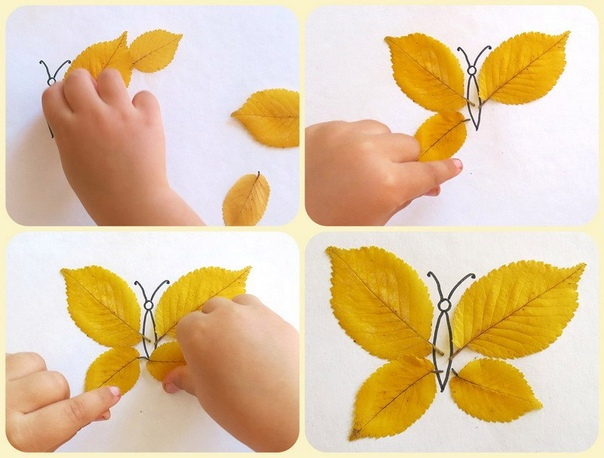 Поделки из осенних листьев.