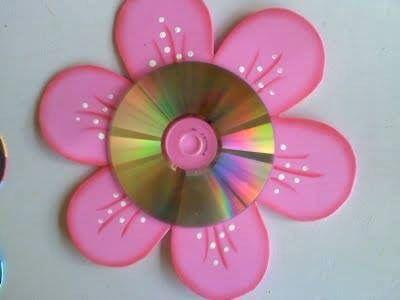 Из старых cd-дисков