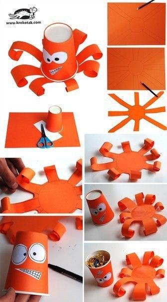 Поделки с детьми из бумажных стаканчиков