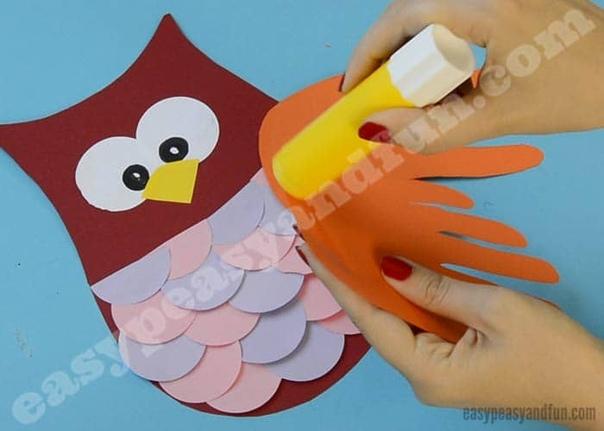 """Творческое занятие для малышей """"сова"""""""