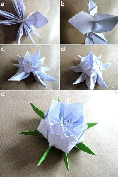 Цветы лотоса из бумаги