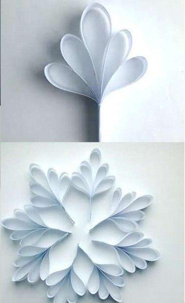 Объемная снежинка из бумаги. мастер-класс ✂