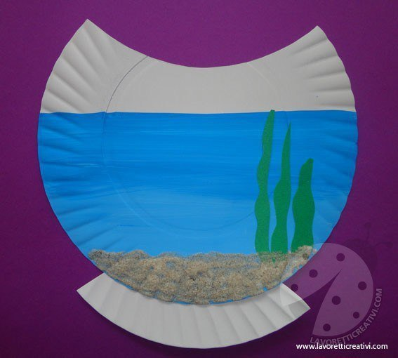 Аквариум из одноразовой тарелки