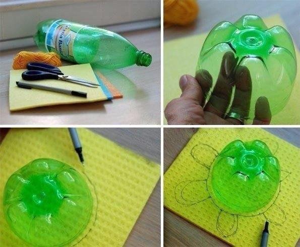 Черепашки из пластиковых бутылок.