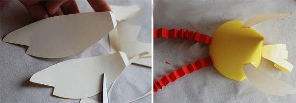 Курочки из цветной бумаги.