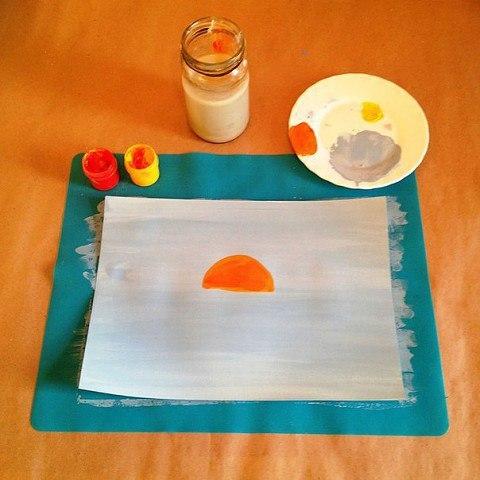 Урок рисования мазками для детей.