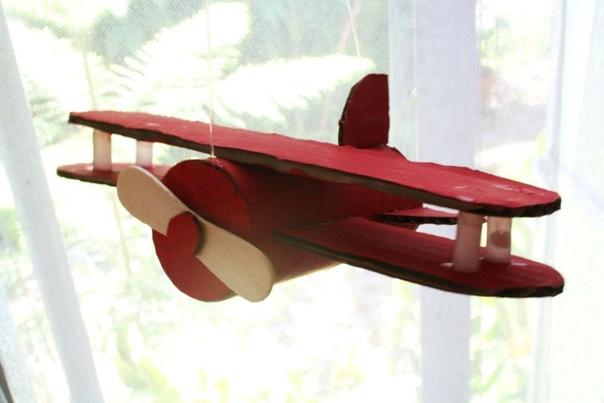 Самолетики из картонных втулок