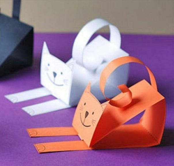 Кошечки из бумаги