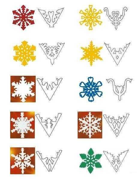 Снежинки из бумаги шаблоны для вырезания - 50 штук!