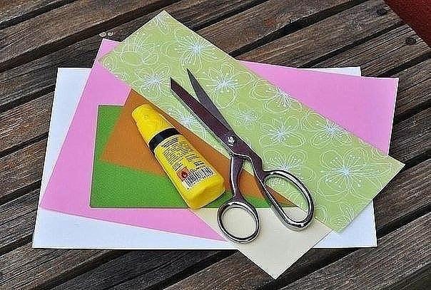 Идея для творчества с детьми. цветочная открытка.