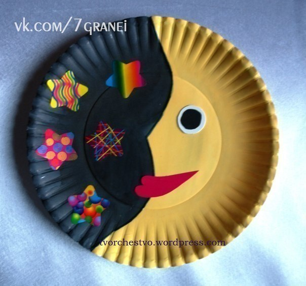 Поделки из одноразовых тарелок