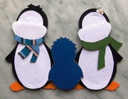 """""""семья пингвинов"""" - 3-d поделка, которая не займет много времени"""