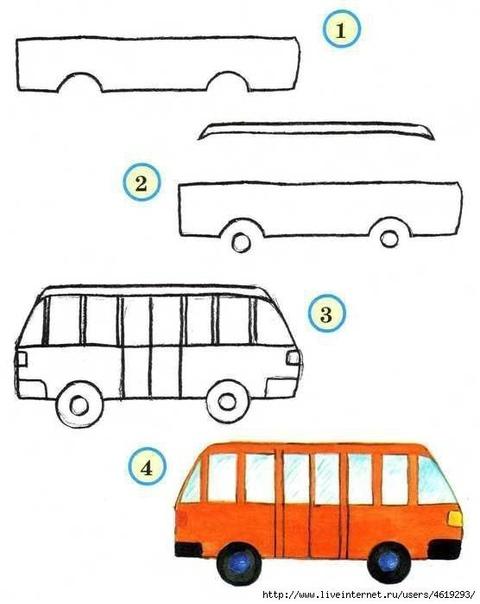Учимся рисовать транспорт