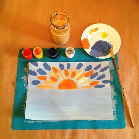 Урок рисования мазками для детей