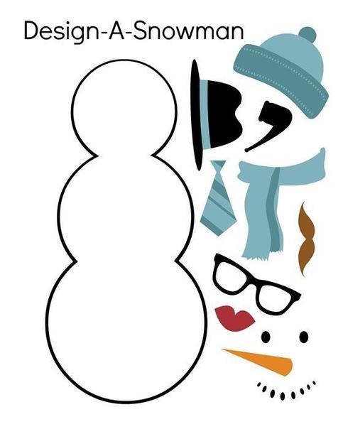 "Аппликация ""снеговик"""