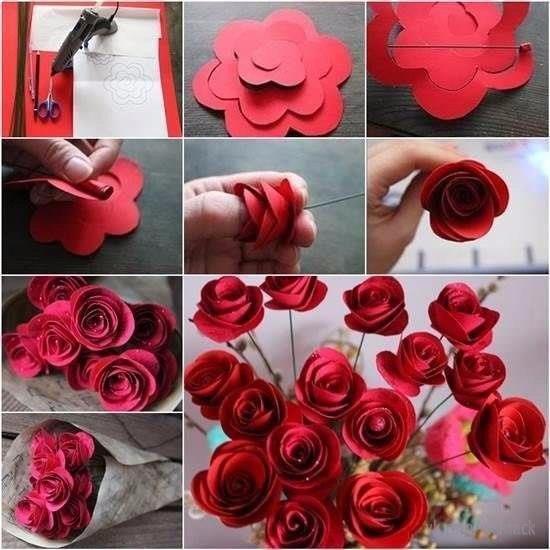 Интересная идея для букета роз