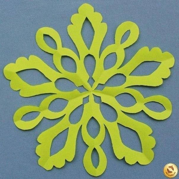 Хемы снежинок + как сложить бумагу для вырезания
