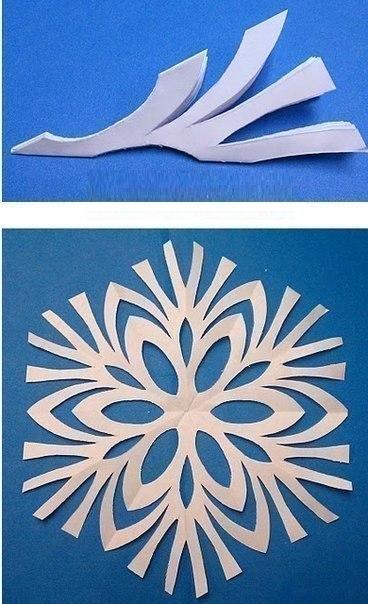 Снежинки ❄. вырезаем вместе с ребенком, несложные шаблоны.