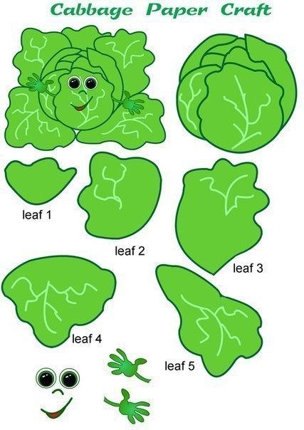 Весёлая овощная аппликация