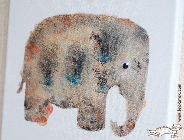 Рисование с помощью губки