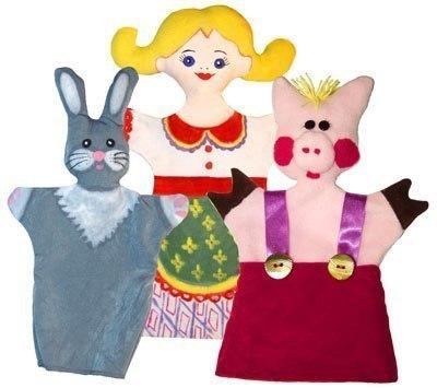 Куклы-перчатки из ткани своими руками