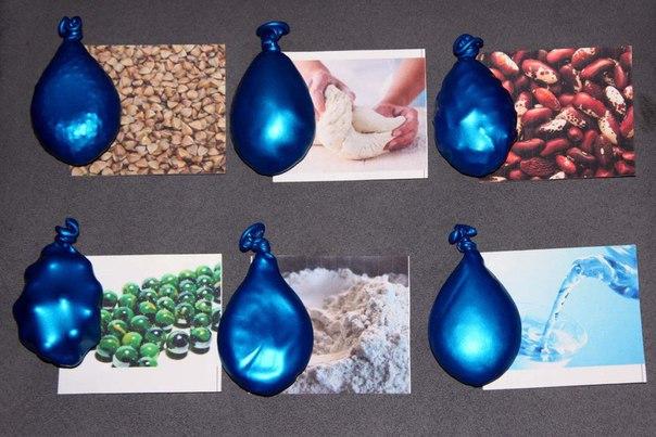 Тактильные мешочки из воздушных шариков