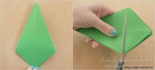 Оригами ёлочки