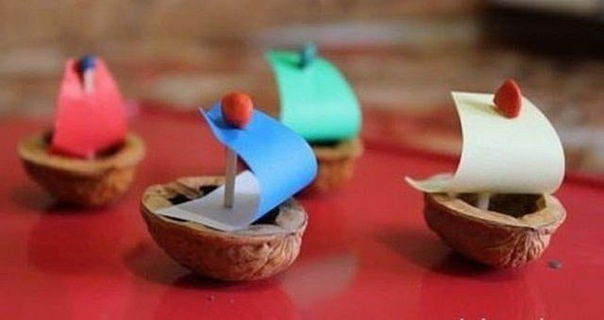 Мастерим с детьми из ореховой скорлупы. идеи для творчества