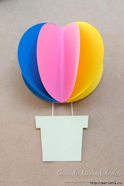 Гирлянда с бумажными воздушными шарами