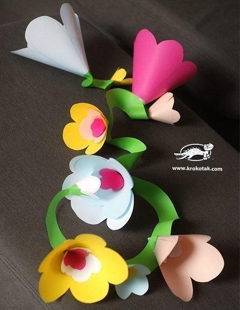 Цветочная гирлянда из бумаги
