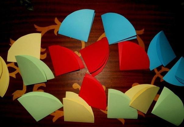 Радужные зонтики из бумаги ☔