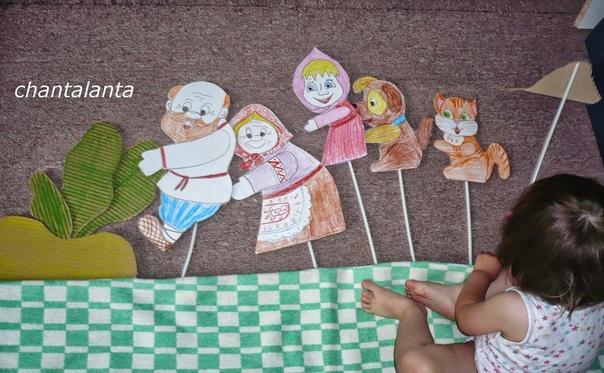 Кукольный театр из палочек от мороженого