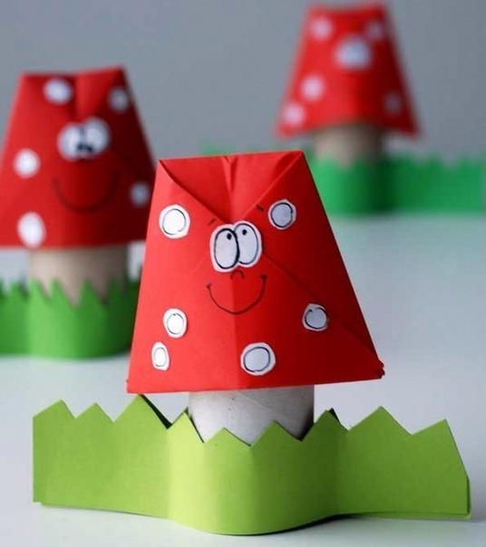 Оригами мухомор.