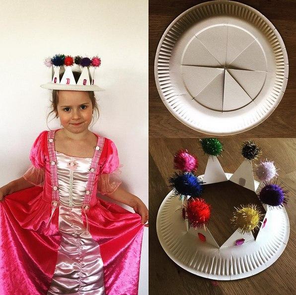 Поделки с детьми из одноразовых тарелок