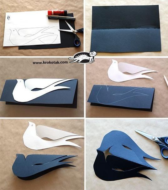 Ласточки из бумаги