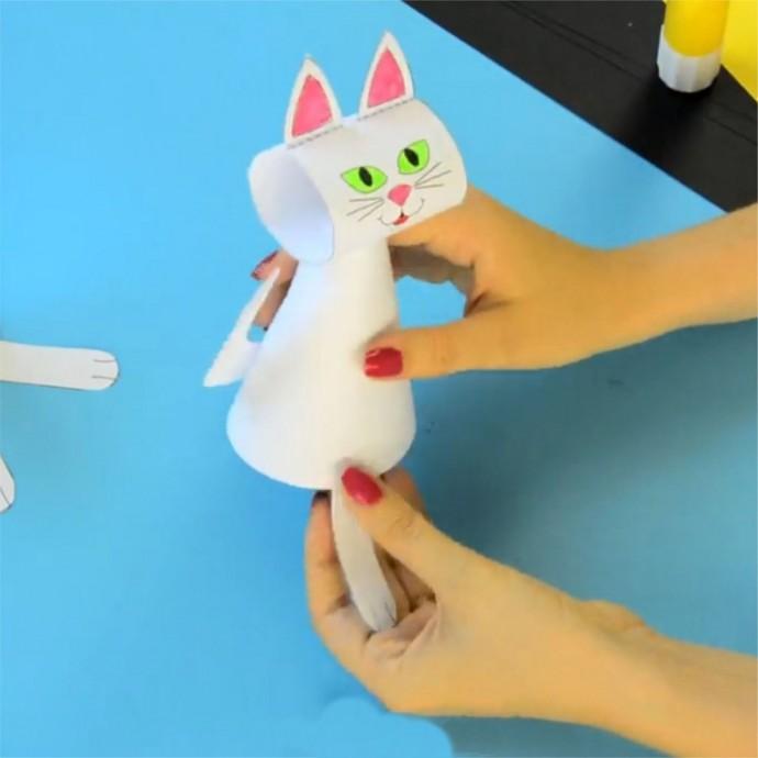 Кошечки из бумаги 6