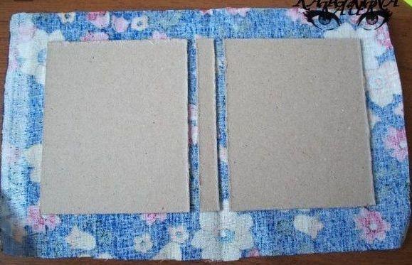 Тканевая обложка для блокнота своими руками