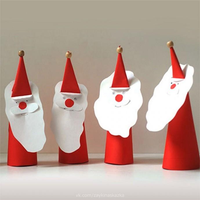 Дед Мороз из плотной бумаги 4