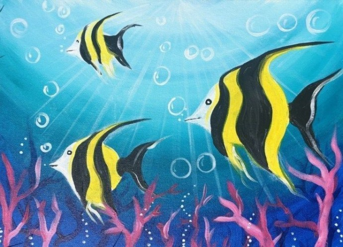 Рисуем рыбок скалярий