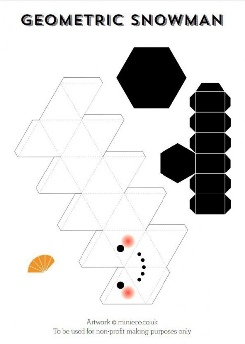Геометрический снеговик