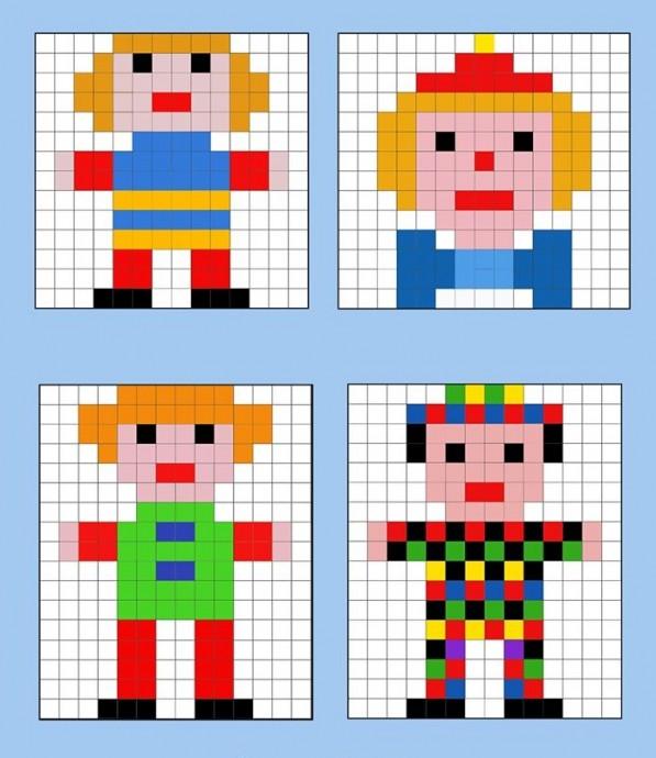 Рисунок по пикселям или по клеткам