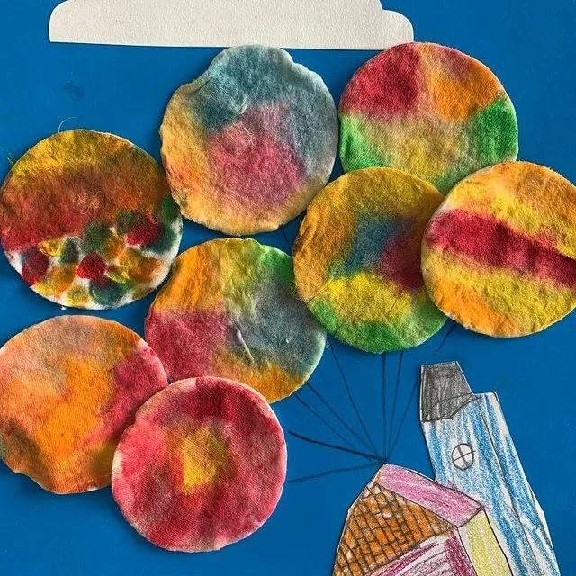 Осенние аппликации из ватных дисков