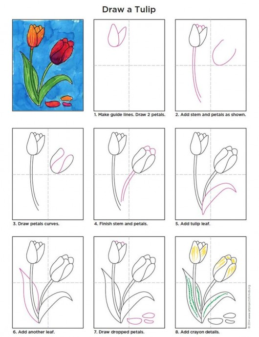 Рисуем с детками цветочки